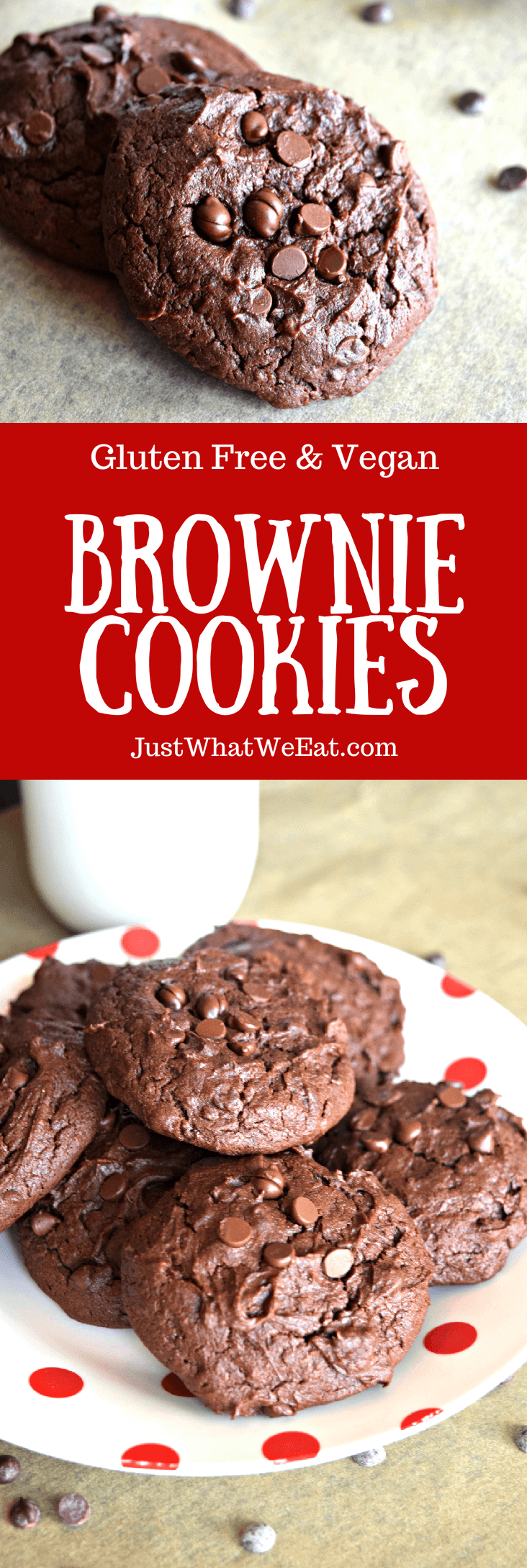 Brownie Cookies - Gluten Free & Vegan