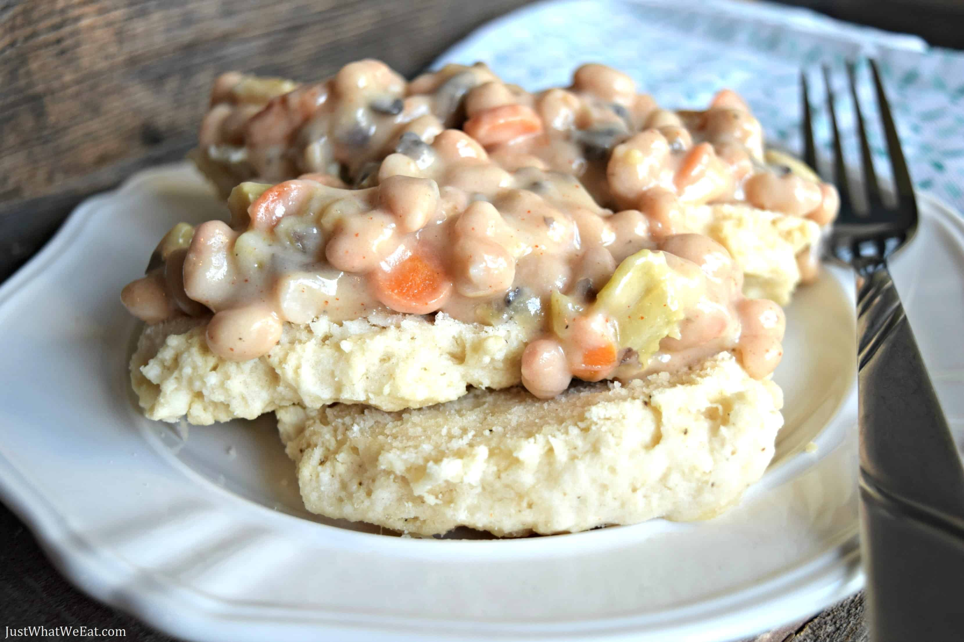 Biscuit Pot Pie - Gluten Free & Vegan