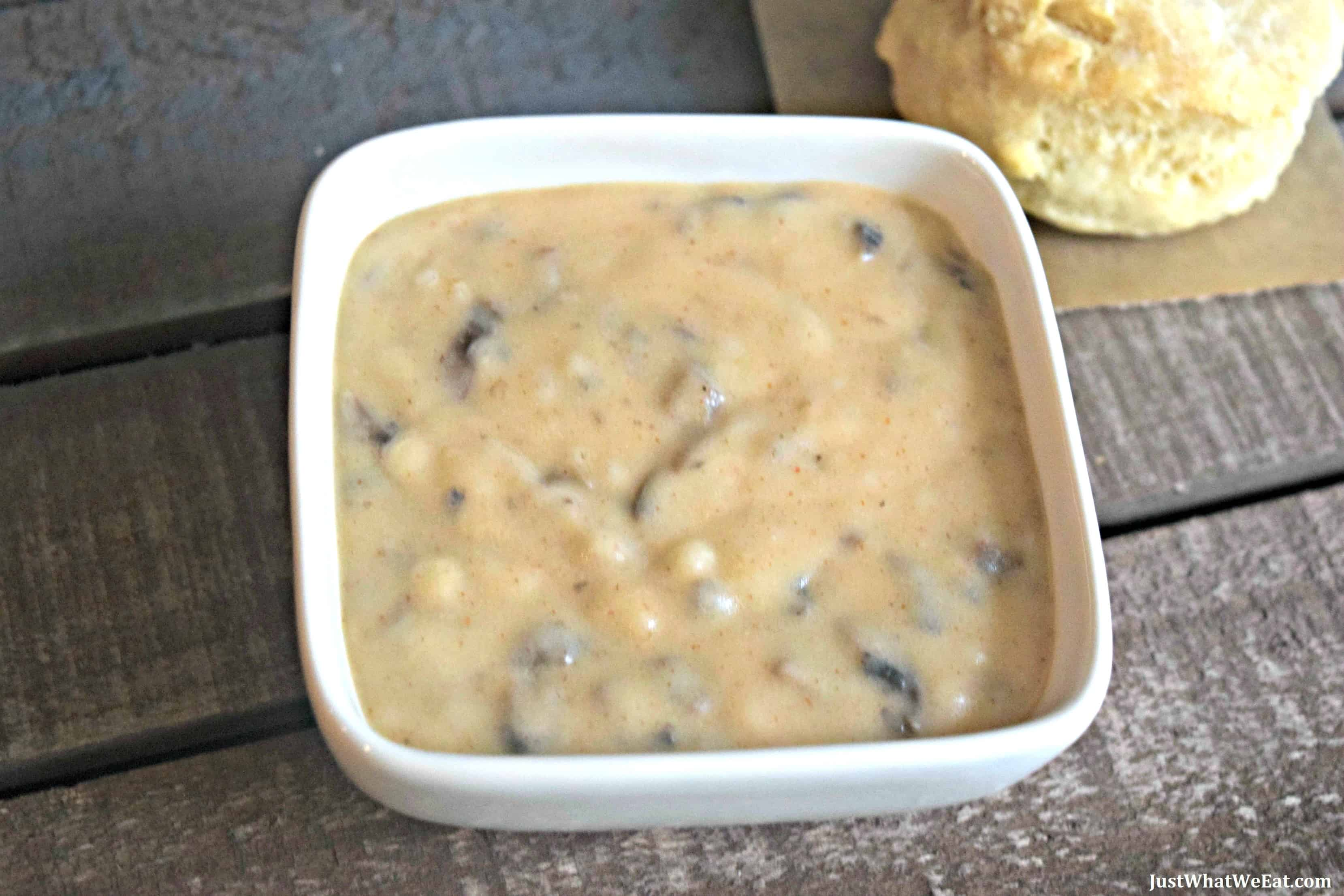 Mushroom Gravy - Gluten Free & Vegan