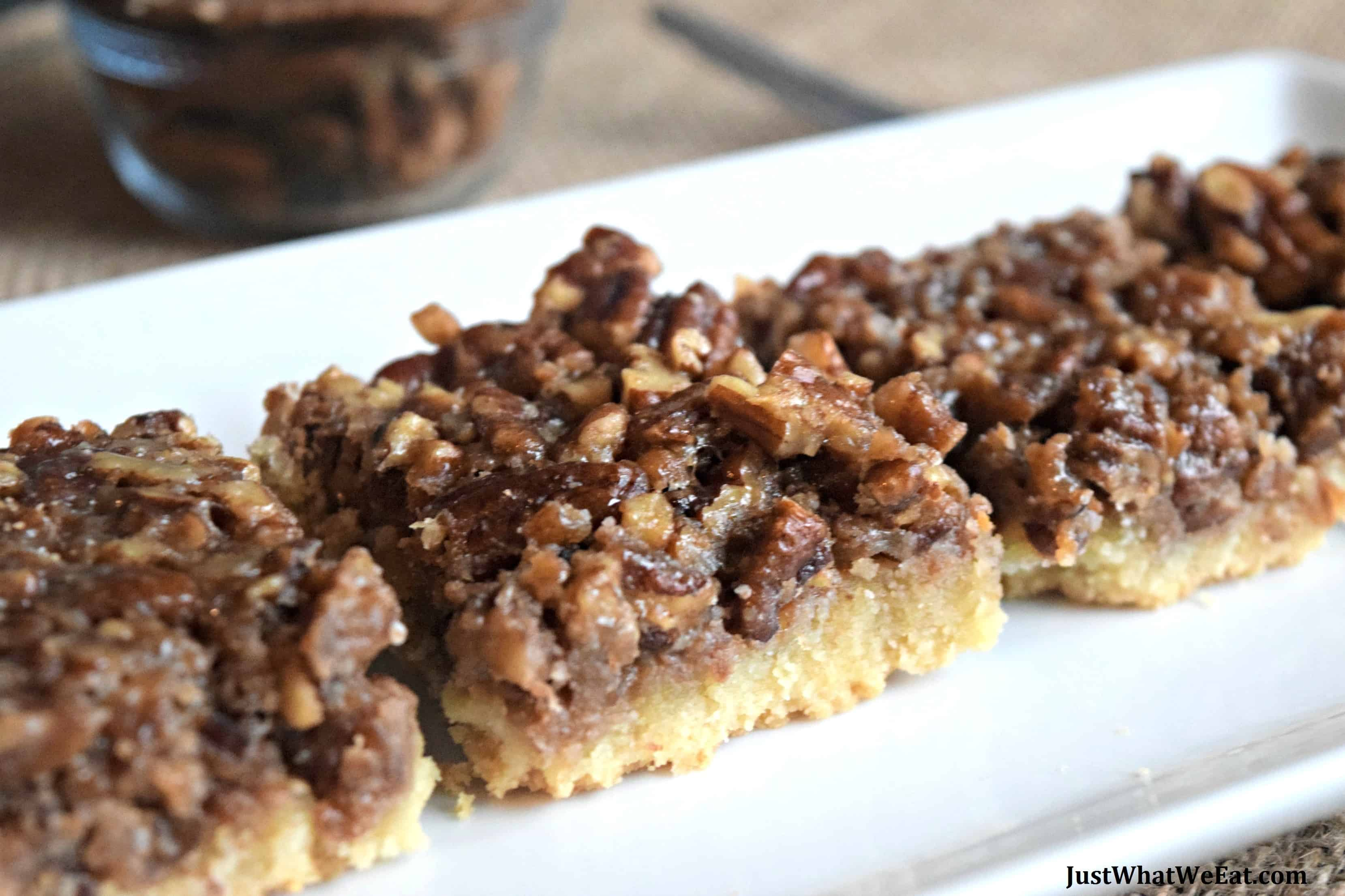 Pecan Pie Bars - Gluten Free, Vegan, & Refined Sugar Free