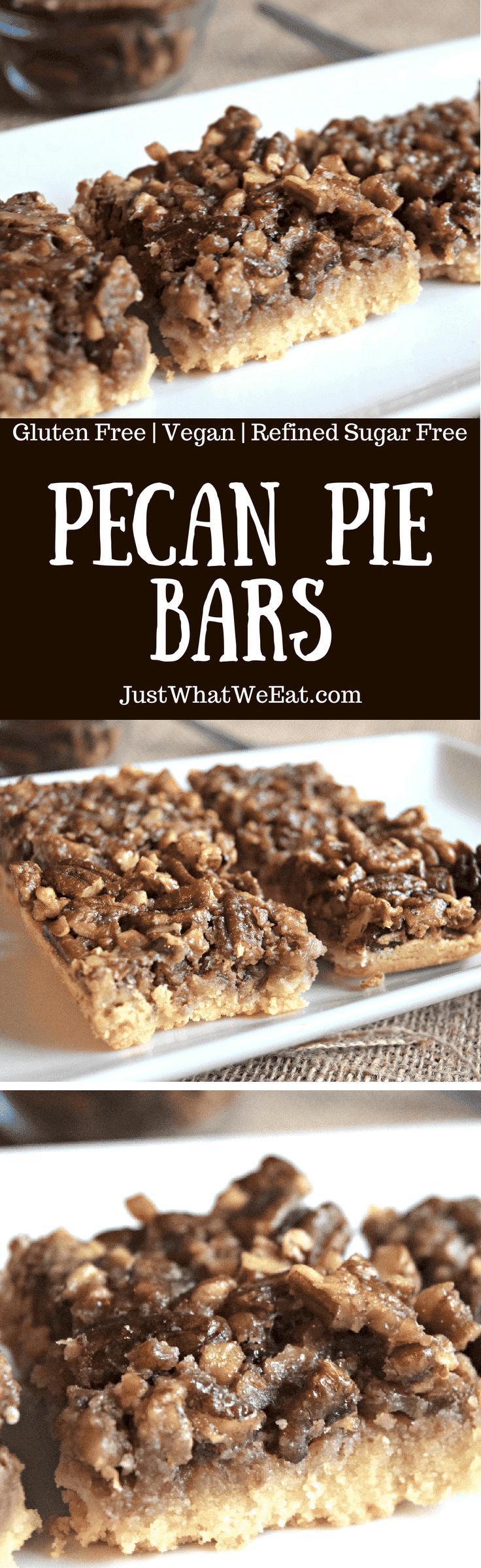 Pecan Pie Bars - Gluten Free, Vegan, & Refined Sugar Free