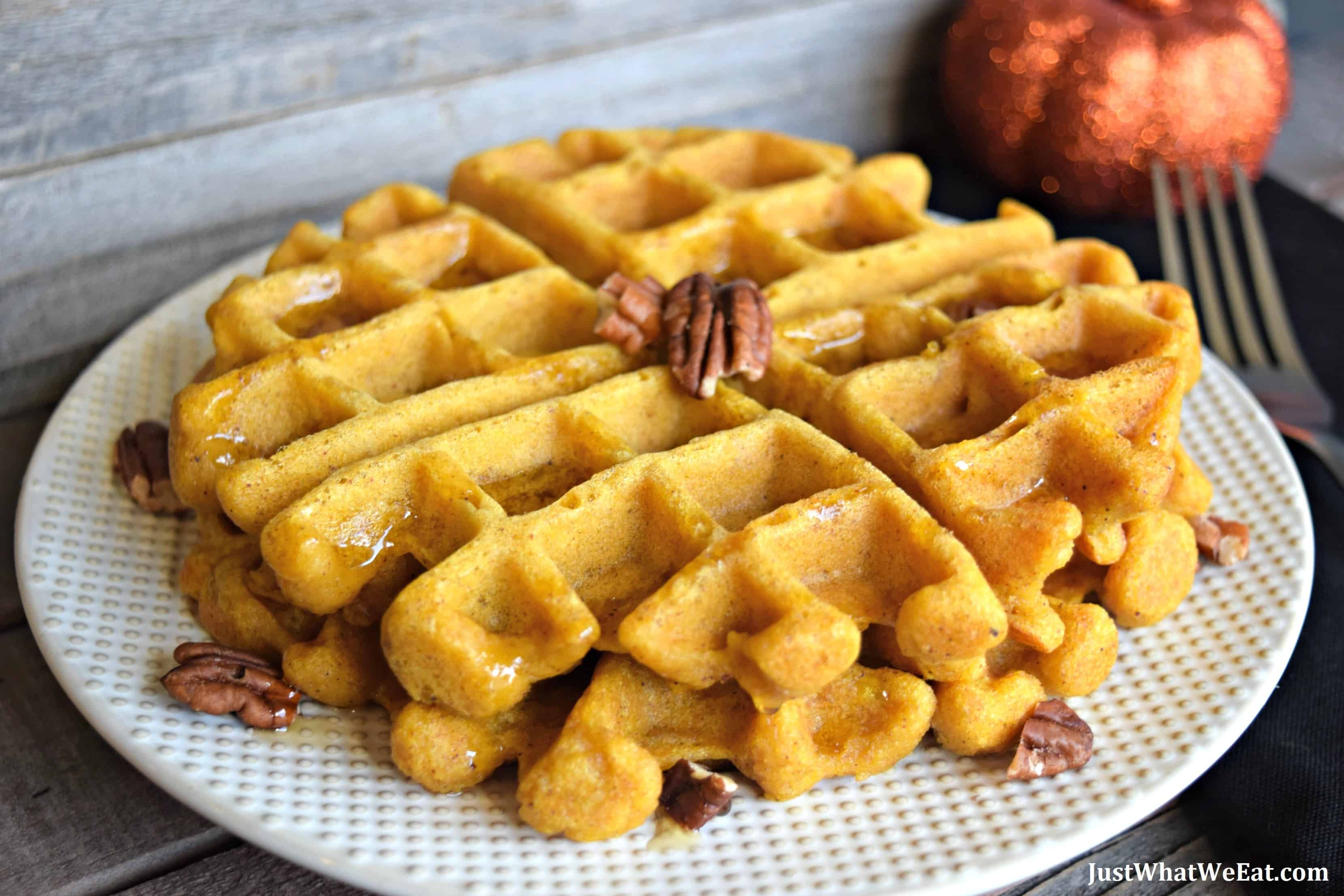 Pumpkin Waffles and Pancakes - Gluten Free, Vegan, & Refined Sugar Free