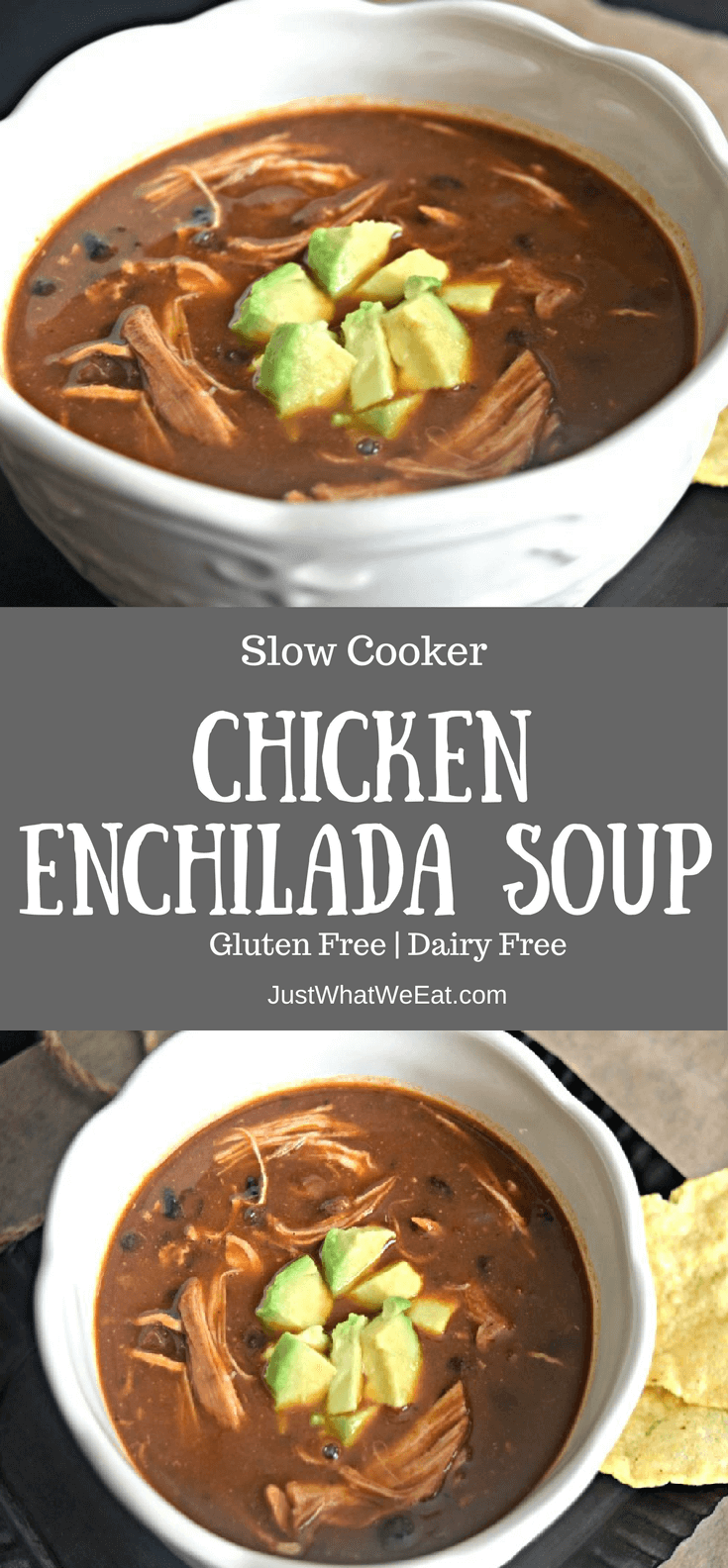Slow Cooker Chicken Enchilada Soup - Gluten Free Dairy Free