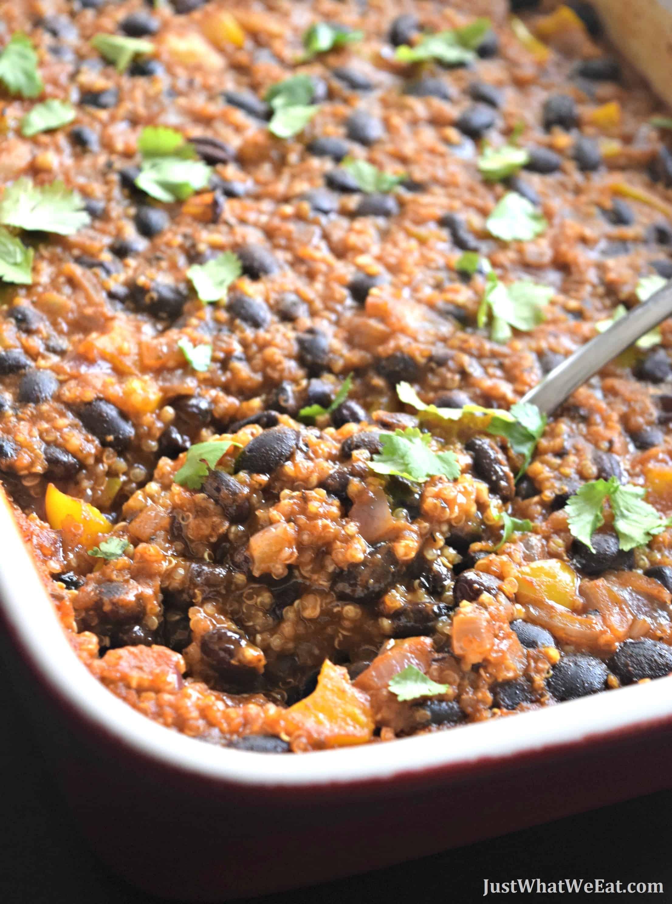 Black Bean Enchilada Bake - Gluten Free & Vegan