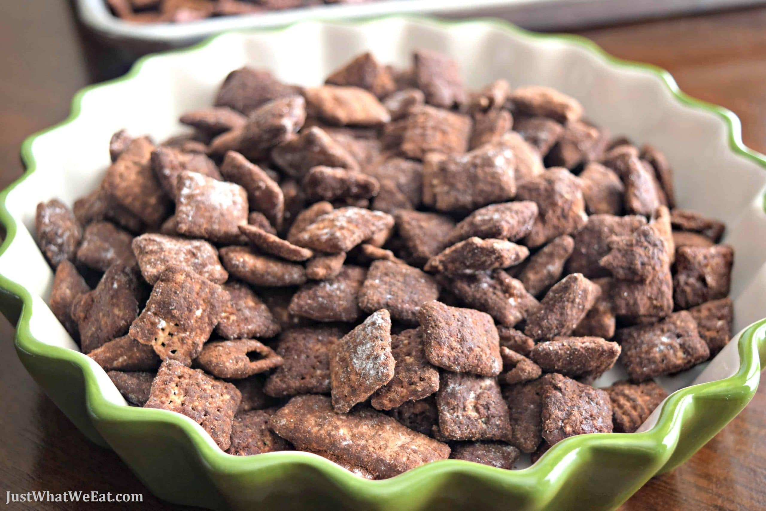 Cocoa Puppy Chow Gluten Free Vegan Just What We Eat