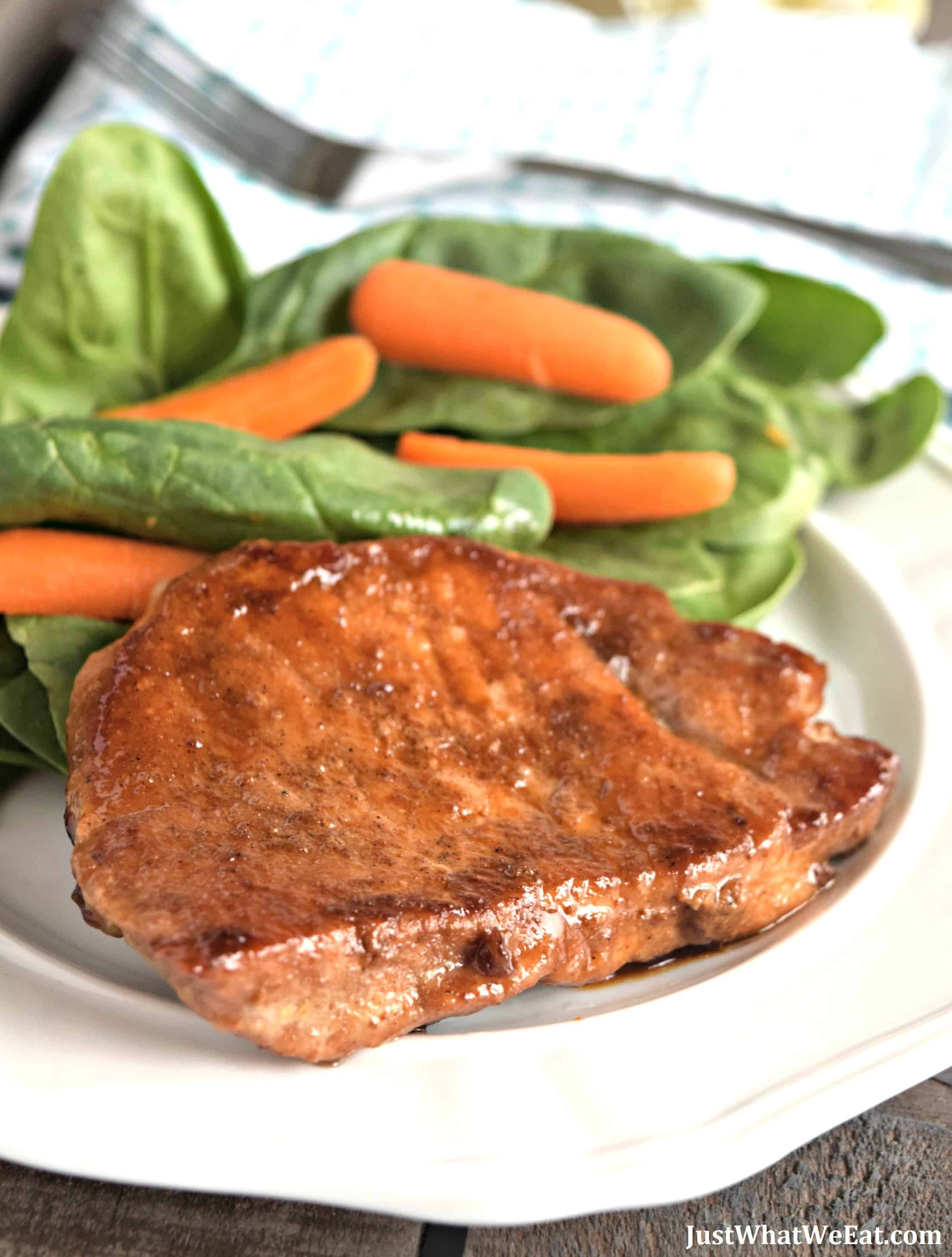 Coconut Sugar Glazed Pork Chops - Gluten Free, Dairy Free, & Refined Sugar Free