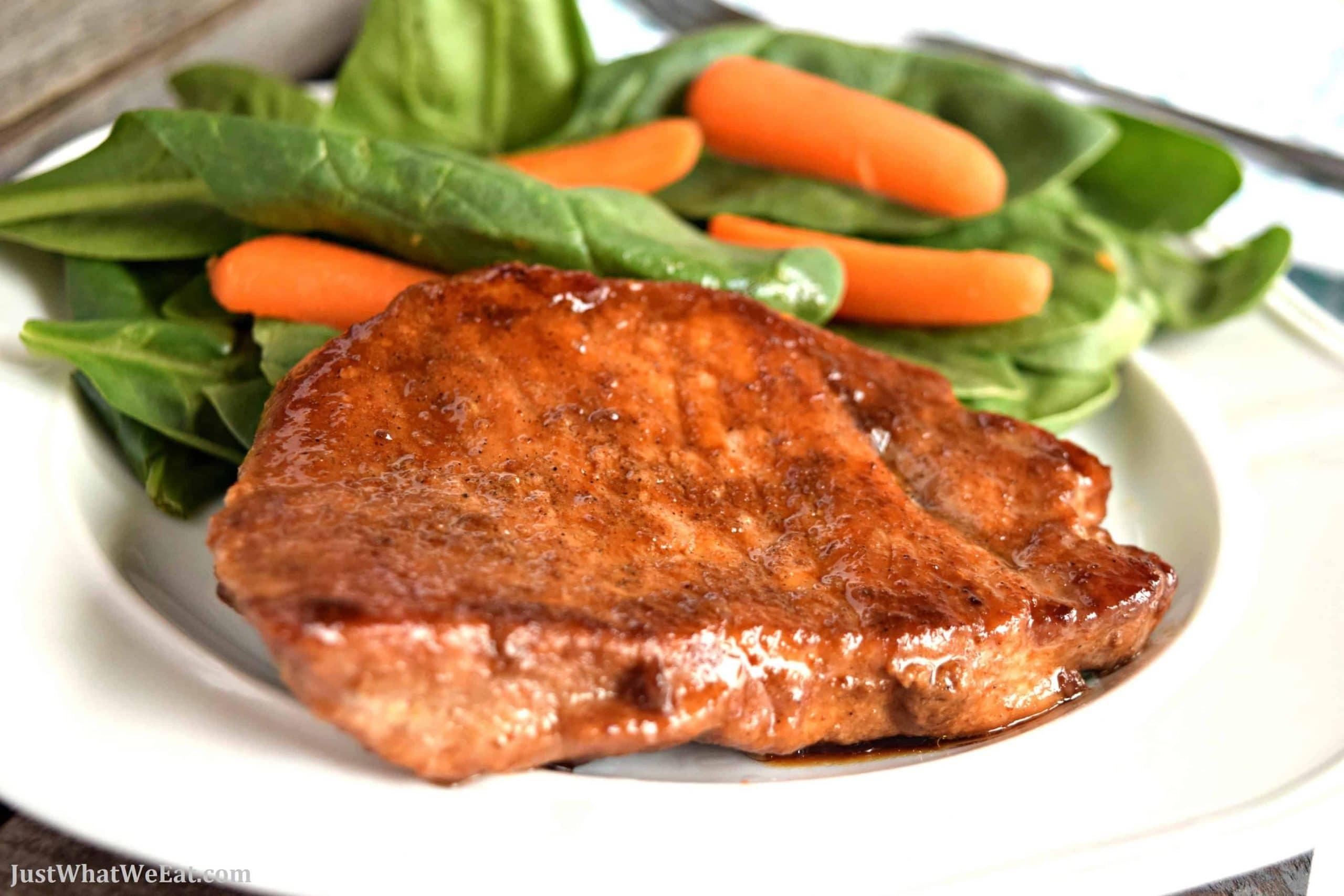 Coconut Sugar Glazed Pork Chops – Gluten Free, Dairy Free, & Refined Sugar Free