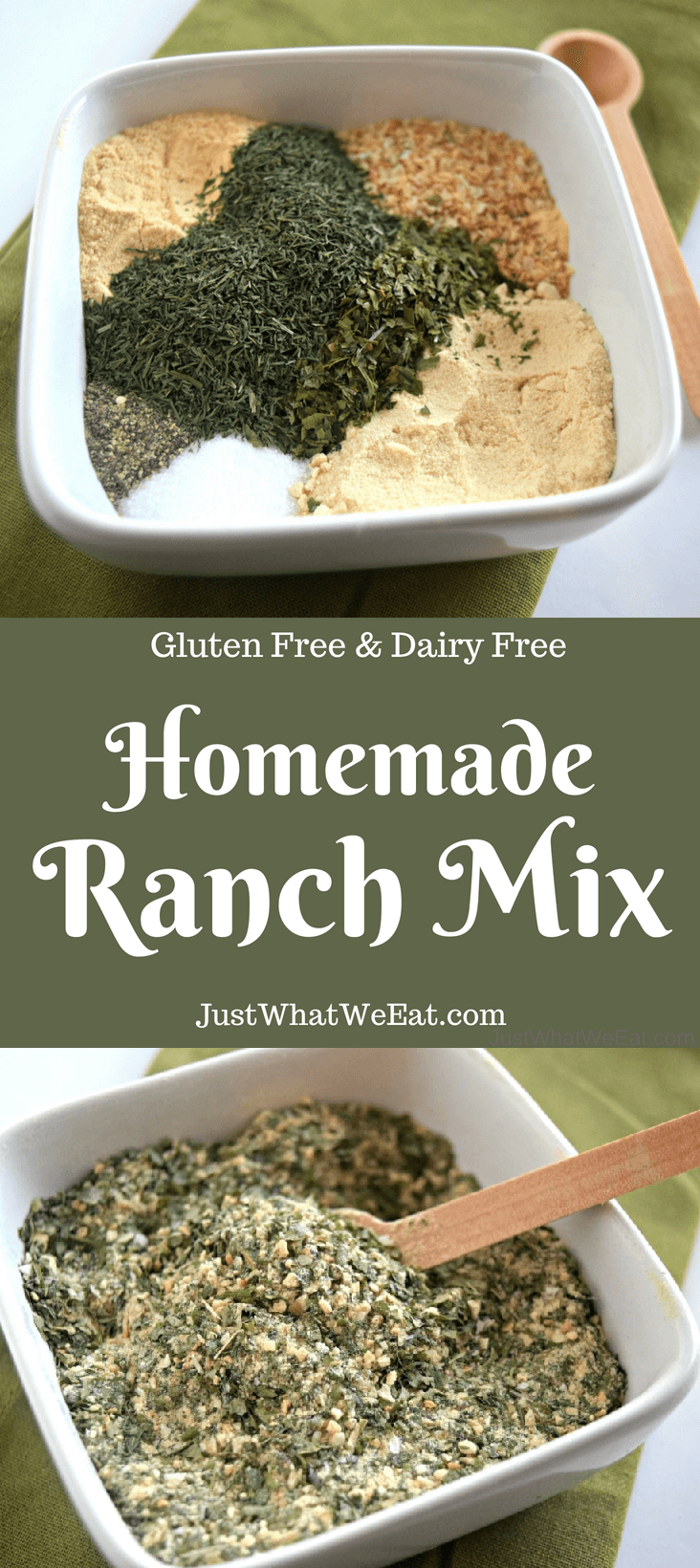 Homemade Ranch Mix - Gluten Free & Dairy Free