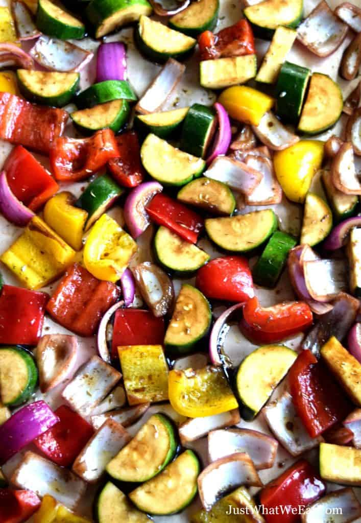 These Balsamic Roasted Vegetables are incredible! They have so much flavor and are so easy to make!