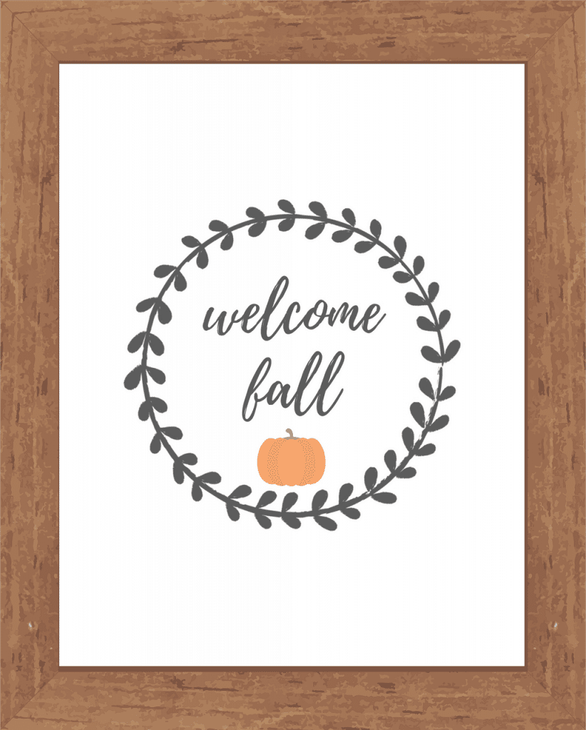 Welcome Fall Printable Wall Decor