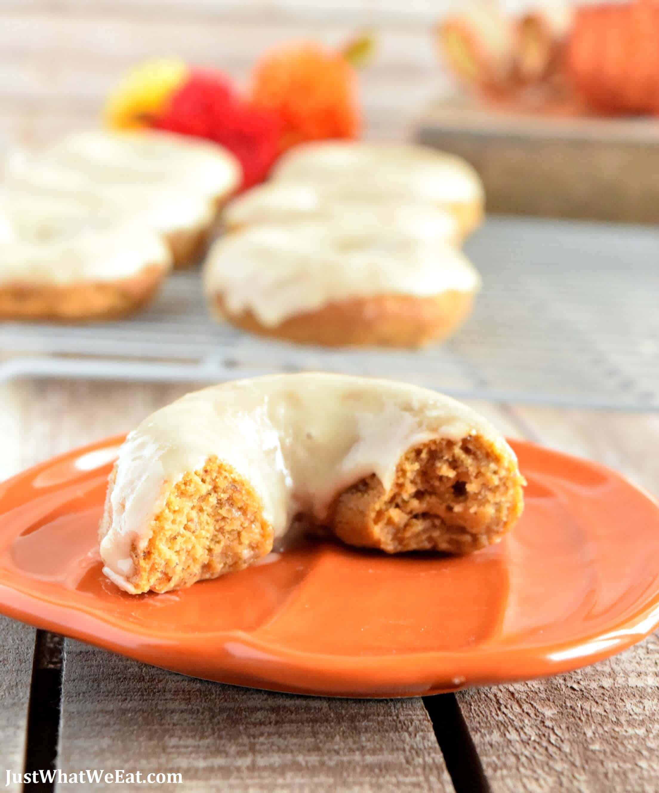 Pumpkin Donuts - Gluten Free, Vegan, & Refined Sugar Free