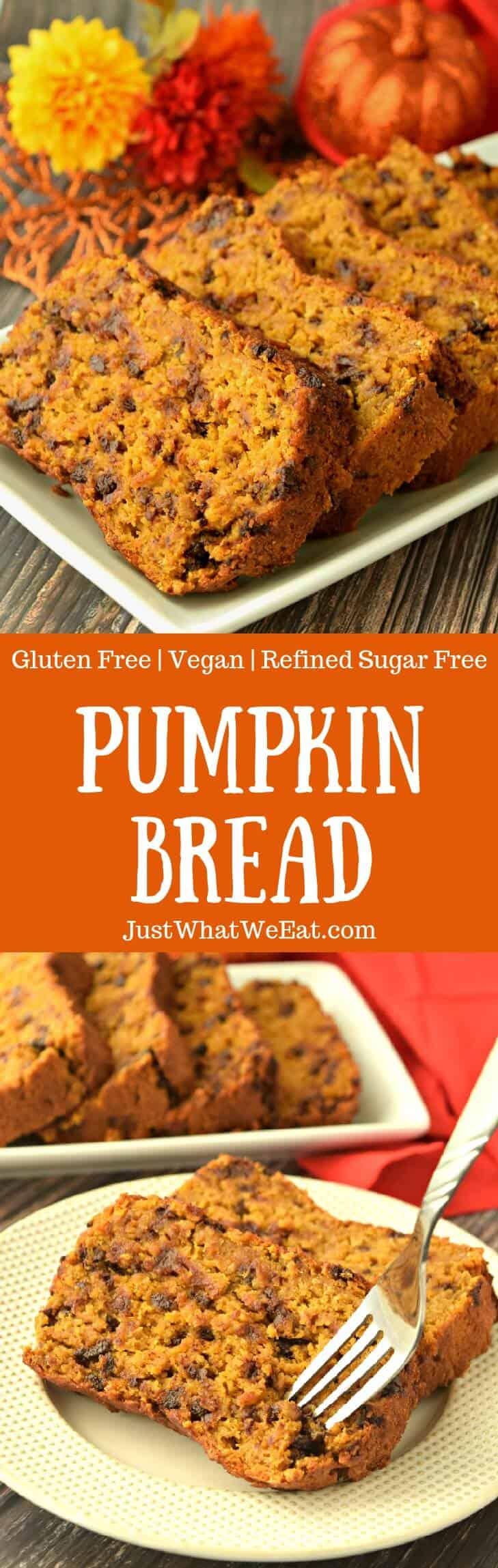 Pumpkin Bread - Gluten Free, Vegan, & Refined Sugar Free