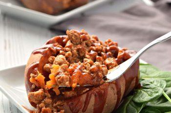 BBQ Turkey Stuffed Sweet Potatoes – Gluten Free and Dairy Free