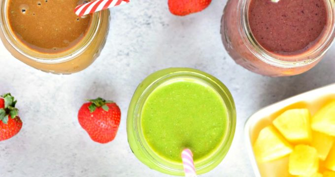 3 Healthy Smoothie Recipes – Gluten Free, Vegan, Refined Sugar Free