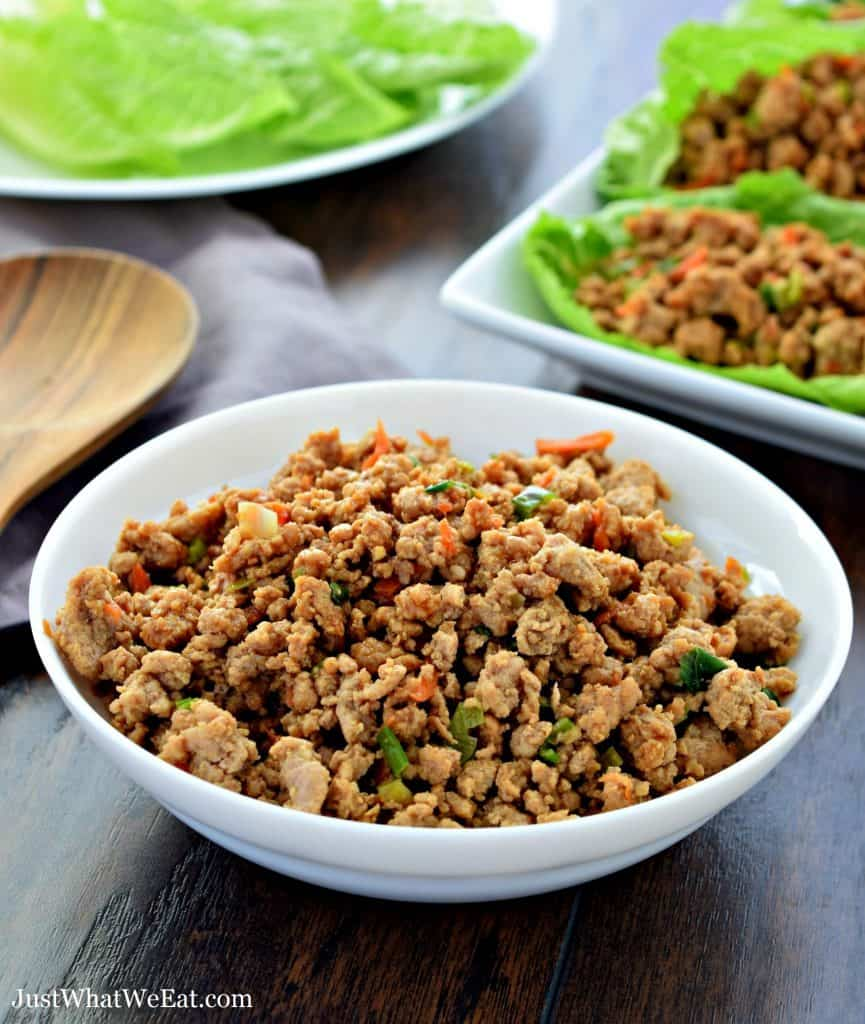 Asian Turkey Lettuce Wraps - Gluten Free, Dairy Free