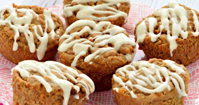 Carrot Cake Muffins – Gluten Free, Vegan, Refined Sugar Free