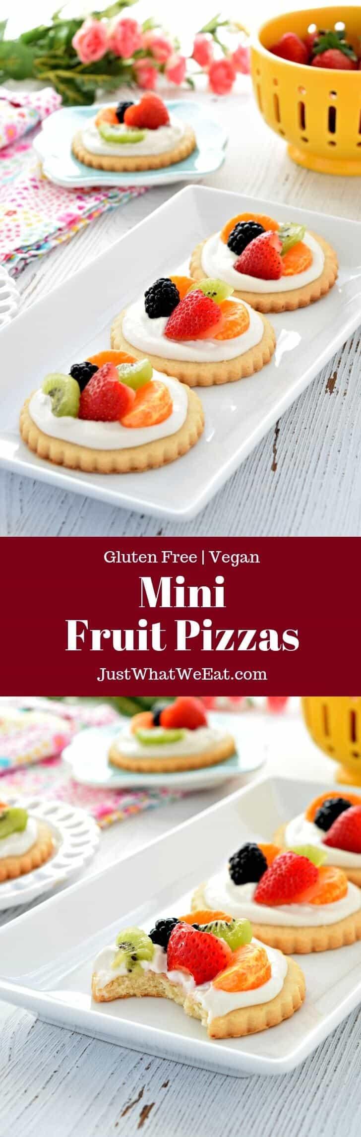 Gluten Free Vegan Dairy Free Mini Fruit Pizzas