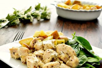 Gluten Free and Dairy Free Greek Lemon Chicken