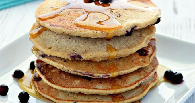 Blueberry Oat Flour Pancakes – Gluten Free, Vegan, Refined Sugar Free