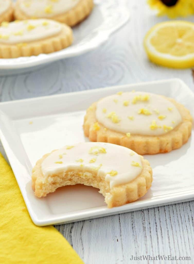 Lemon Shortbread Cookies that are gluten free, vegan, and dairy free