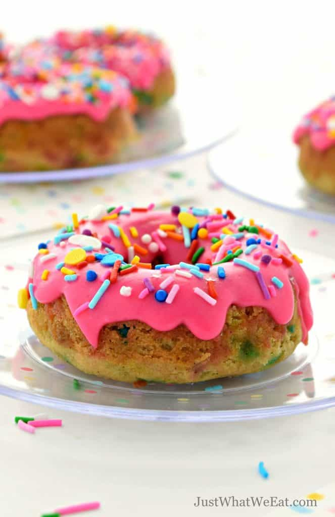 Fantastic Birthday Cake Donuts Gluten Free Vegan Just What We Eat Funny Birthday Cards Online Overcheapnameinfo