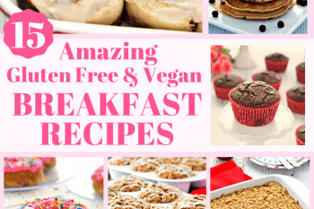 These Gluten Free and Vegan Breakfast recipes taste amazing! Donuts, Muffins, Pancakes, and more recipes that the whole family will love! #glutenfree #vegan #breakfast #recipes #dairyfree #veganuary