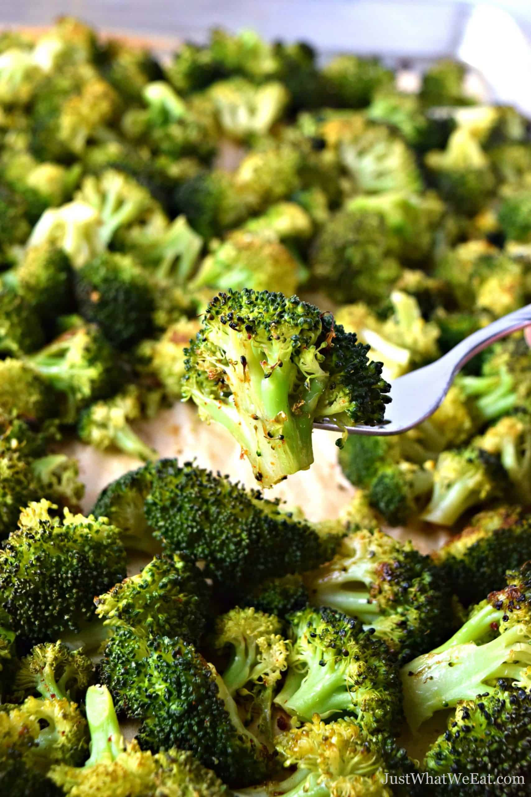 Oven Roasted Broccoli Gluten Free Vegan Just What We Eat