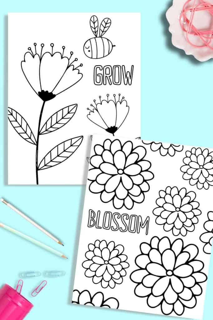 - Printable Flower Coloring Pages - Just What We Eat